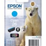 EPSON C13T26124012 CARTUCCIA CLARIA PREMIUM26 ORSO POLARE  45ML CIANO