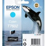 EPSON C13T76024010 CARTUCCIA HD T7602 ORCA  259 ML CIANO