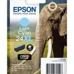 EPSON C13T24354012 CARTUCCIA CLARIAPHOTO HD24XL ELEFANTE CIANO CHIARO