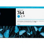 HP INC. C1Q13A HP 764 300-ML CYAN INK CARTRIDGE