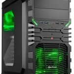 SHARKOON VG4-W GREEN CASE 2XU2, 2XU3, WINDOW, 2XLED