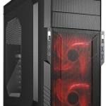 SHARKOON T3-W RED CASE 2XU3, WINDOW, 2XLED