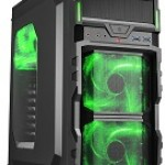 SHARKOON VG5-W GREEN CASE 2XU3, WINDOW, 3XLED