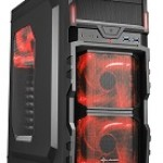 SHARKOON VG5-W RED CASE 2XU3, WINDOW, 3XLED