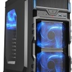 SHARKOON VG5-W BLUE CASE 2XU3, WINDOW, 3XLED