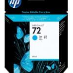 HP INC. C9398A HP 72 69ML CYAN INK CARTRIDGE
