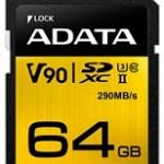 ADATA TECHNO ASDX64GUII3CL10-C 64GB PREMIER ONE SDXC UHS-II U3 C10 290MB/260MB