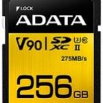 ADATA TECHNO ASDX256GUII3CL10-C 256GB PREMIER ONE SDXC UHS-II U3 C10 275/155MB
