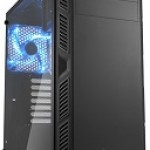 SHARKOON AI7000 GLASS BLUE 2X U2, 2X U3, TEMPERED GLASS, 2X 140, 1X 140 LED