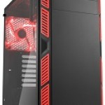 SHARKOON AI7000 GLASS RED 2X U2, 2X U3, TEMPERED GLASS, 2X 140, 1X 140 LED