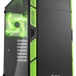 SHARKOON AI7000 GLASS GREEN 2X U2, 2X U3, TEMPERED GLASS, 2X 140, 1X 140 LED