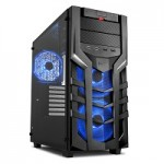 SHARKOON DG7000-G RGB CASE 2XU2, 10U3, TEMPERED GLAS, 3X140 LED RGB