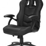 SHARKOON SKILLER SGS1 BLACK GAMING SEAT SYNTHETIC LEATHER FIXED ARMREST 50MM