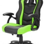 SHARKOON SKILLER SGS1 BLACK/GREEN GAMING SEAT SYNTHETIC LEATHER FIXED ARMREST 50MM