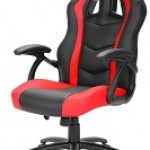 SHARKOON SKILLER SGS1 BLACK/RE GAMING SEAT SYNTHETIC LEATHER FIXED ARMREST 50MM