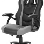 SHARKOON SKILLER SGS1 BLACK/GRAY GAMING SEAT SYNTHETIC LEATHER FIXED ARMREST 50MM