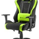 SHARKOON SKILLER SGS2 BLACK/GREEN SEDIA GAMING SHARKOON SKILLER SGS2 NERA/VERDE