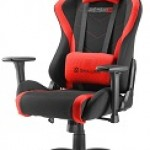 SHARKOON SKILLER SGS2 BLACK/RE GAMING SEAT FABRIC CLASS-4 GASLIFT3D ARMREST 60MM
