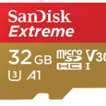 SANDISK SDSQXAF-032G-GN6MA 32GB EXTREME MICROSDXC 100MB/S A1 C10 V30 UHS-IU3