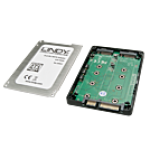 LINDY LINDY20941 ADATTATORE SATA 2,5 PER DUE SSD M.2, RAID