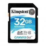 KINGSTON SDG/32GB 32GB SDHC CANVAS GO 90R/45W CL10 U3 V30