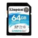 KINGSTON SDG/64GB 64GB SDXC CANVAS GO 90R/45W CL10 U3 V30