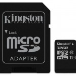 KINGSTON SDCS/32GB 32GB CANVAS MICRO SDHC 80R CL10 UHS-I + SD ADAP.