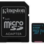 KINGSTON SDCG2/64GB 64GB MICROSDXC CANVAS GO 90R/45W U3 UHS-I V30