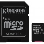 KINGSTON SDCS/256GB 256GB CANVAS MICRO SDHC  80R CL10 UHS-I + SD ADAP.