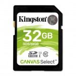 KINGSTON SDS/32GB 32GB SDHC CANVAS SELECT 80R CL10 UHS-I