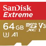 64GB EXTREME MICROSDXC 100MB/S A1 C10 V30 UHS-IU3