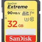 SANDISK SDSDXVE-032G-GNCIN 32GB SANDISK EXTREME SDHC CARD 90MB/S V30 UHS-I U3