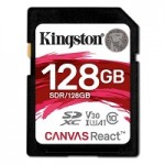 KINGSTON SDR/128GB 128GB SDXC CANVASREACT 100R/80W CL10 UHS-IU3 V30A1