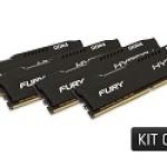 64GB 2666MHZ DDR4 CL16 DIMM (4X16GB) HX FURY BLACK