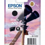EPSON C13T02V14010 CARTUCCE INK 502 BINOCOLO 1X4,6ML NERO
