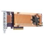 QNAP QM2-4P-384 QUAD M.2 2280 PCIE SSD EXPANSION CARD PCIE GEN3 X8
