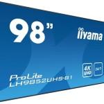 IIYAMA LH9852UHS-B1 97,5 -3840X2160-1330 1-HDMIX3-DISPLAYPORT-USB