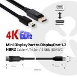 CLUB3D CAC-2163 MINI DP 1.2 - DP M/M 2M 4K 60HZ BI-DIRECTIONAL