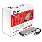 CLUB3D CSV-1431 USB 3.0 4 PORT ALUMINIUM CASING