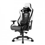 SHARKOON SKILLER SGS4 BLACK/WH GAMING SEAT SYNTHETIC LEATHER 4D ARM COMFORT-SIZE