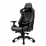 SHARKOON SKILLER SGS5 BLACK SEDIA GAMING IN VERA PELLE