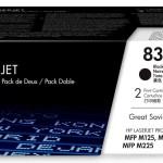 HP INC. CF283AD HP 83A BLK DUAL PACK LJ TONER CARTRIDGE
