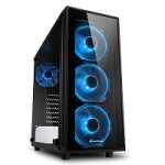 SHARKOON TG4 BLUE 2X U3, TEMPERED GLASS, 4X 120 LED