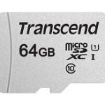 TRANSCEND TS64GUSD300S 300S 64GB UHS-I U1 MICROSD W/O ADAPTER