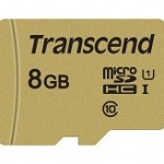TRANSCEND TS8GUSD500S 500S 8GB UHS-I U1 MICROSD WITH ADAPTER,