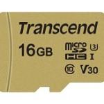 TRANSCEND TS16GUSD500S 500S 16GB UHS-I U3 MICROSD CON ADATTATORE