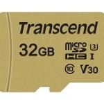 TRANSCEND TS32GUSD500S 500S 32GB UHS-I U3 MICROSD CON ADATTATORE