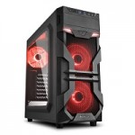 SHARKOON VG7-W RED 2X U3, WINDOW, 3X 120 LED