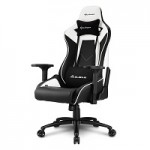 SHARKOON SHARK ELBRUS 3 BLACK/WHITE SHARK ELBRUS 3 GAMING SEAT BK/WH