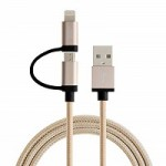 IGLOO VC-22G_NB IGLOO CAVETTO MICROUSB E LIGHTNING GOLD